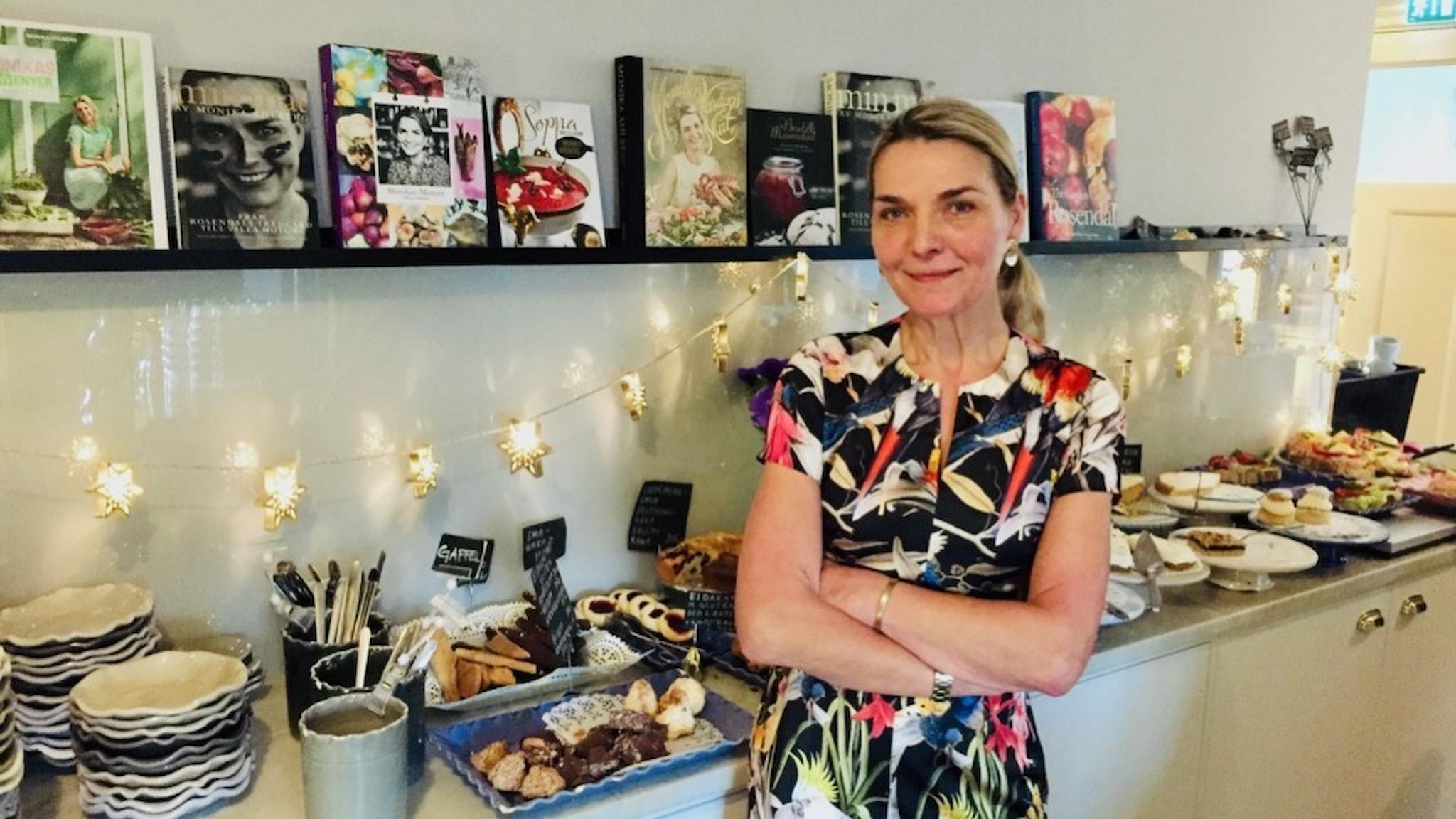 Vi träffar Monika Ahlberg på caféet hon driver på Thielska galleriet på Djurgården i Stockholm.