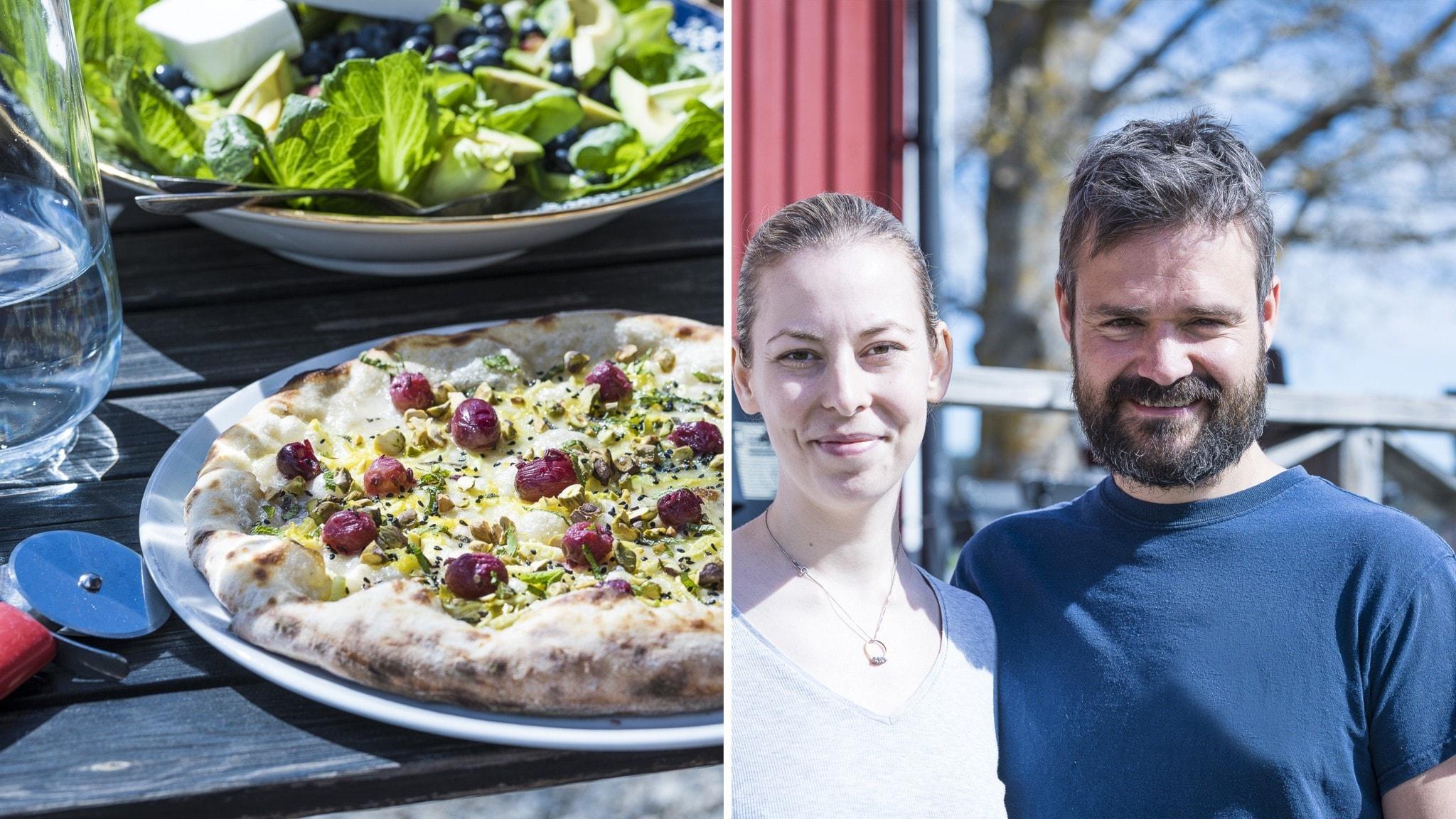 Veganska pizzor i Tavelsjö