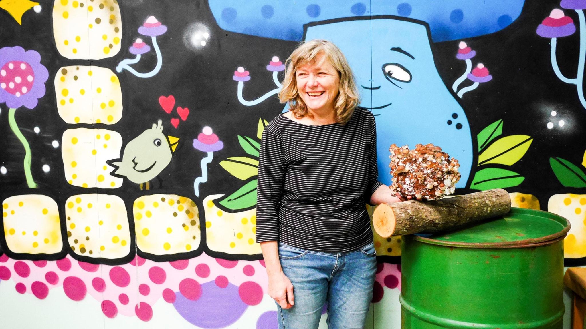 Christina Persson, hortonom, forskare och numera svampodlare.