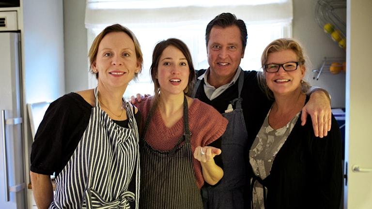 Redaktionen bakom Meny Foto: Tomas Tengby / SR