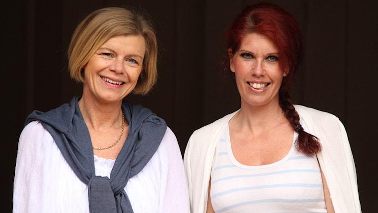 Annica Triberg och Caroline Dourén. Foto: Sveriges Radio