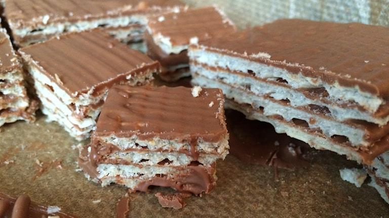Hemmagjord kexchoklad. Foto: Niklas Skagerlind/Sveriges Radio