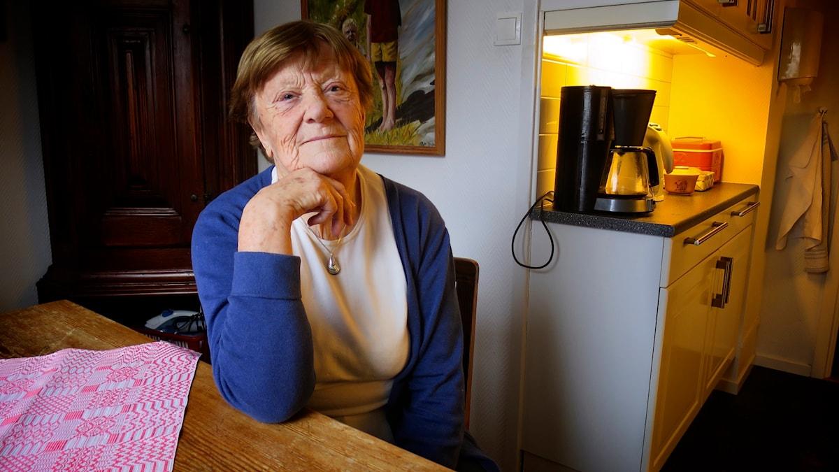 Maj-Britt Tengby i sitt kök. Foto: Tomas Tengby