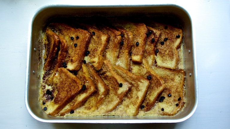 Bread and butter pudding. Foto: Nina Frogneborn.