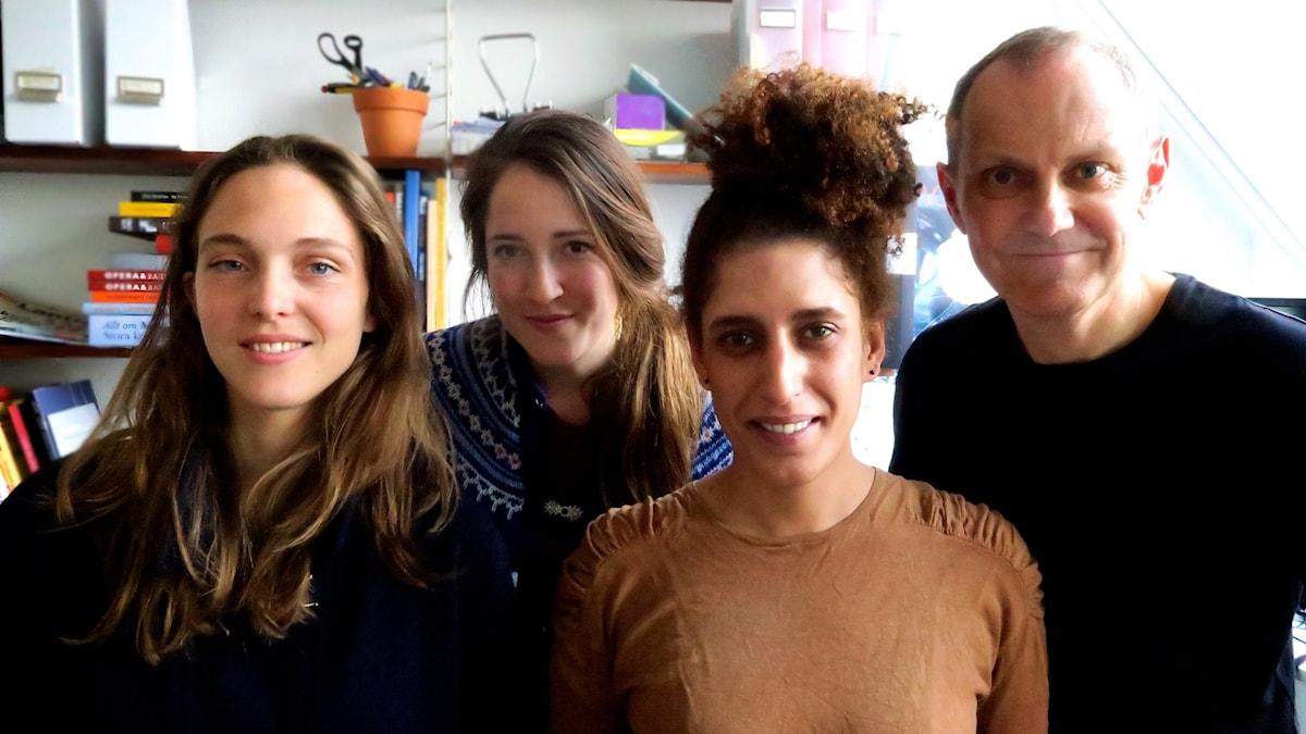 Emma Kolback, Nina Frogneborn, Nadja Hashem och Tomas Tengby. Foto: Felicia Fortes.