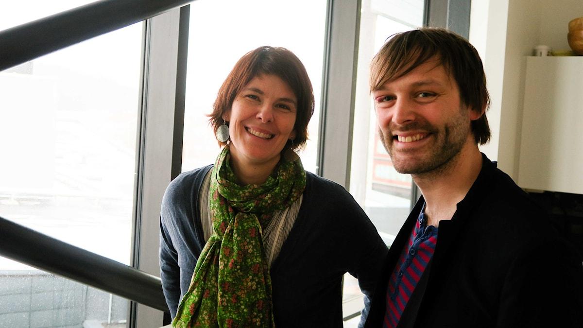 Filmfantasterna Sara Wennerblom Arén och Jonas Holmberg pratar mat på film.