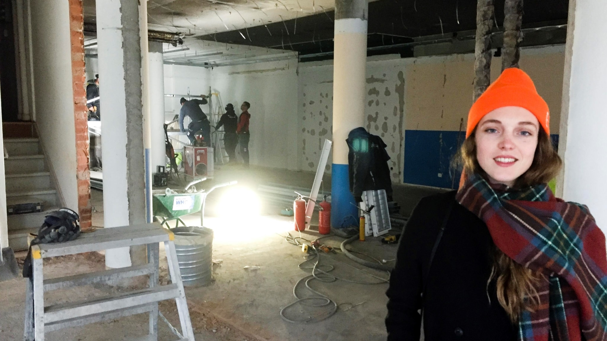 Emma Kolbacks nya kök kommer ligga där lampan är.