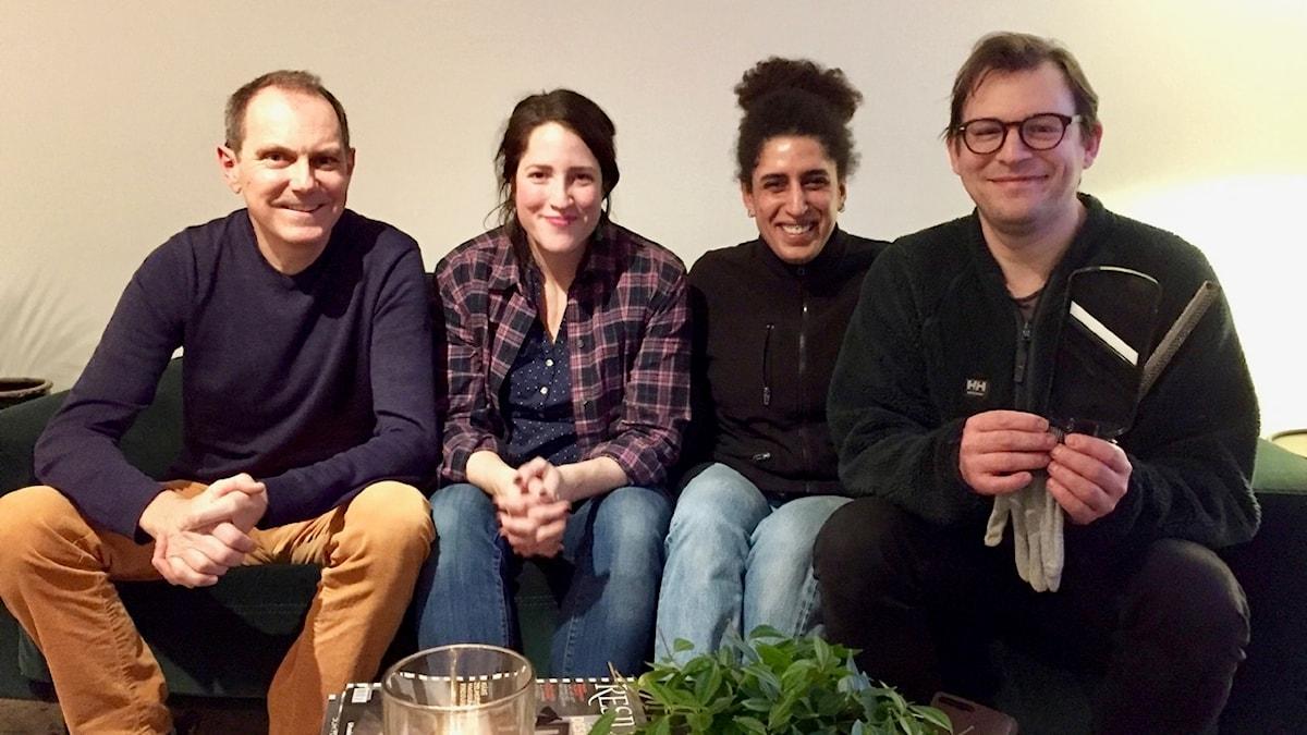 Panelen som ger er tips, fr v Tomas Tengby, Nina Frogneborn, Nadja Hashem och Eric Ericson.