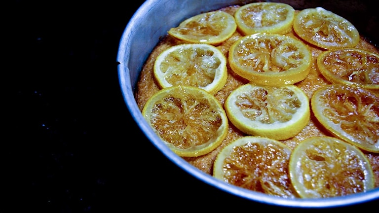 Mandel- och citronkaka.