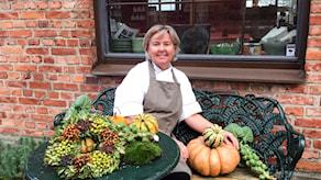 Katja Palmdahl, kock, krögare, kokboksförfattare som gillar pumpa.