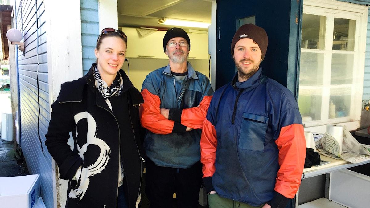 Tiiti Qvarnström besöker Hans och Tobias Hammar, fiskhandlare och fiskare i centrala Malmö.