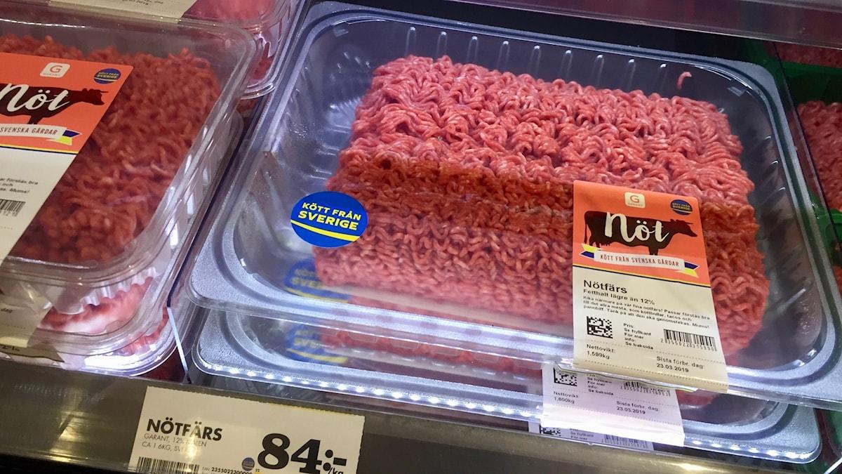 Köttfärs ska genomstekas. Annars kan det bli farligt.