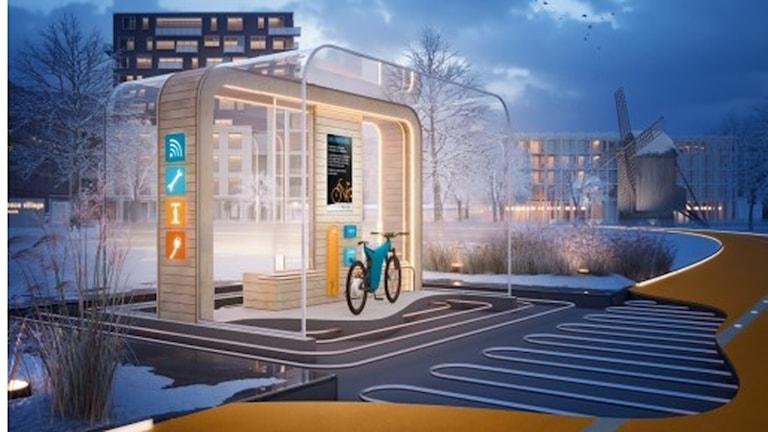 Restvärmen ska kunna värma busshållplatser och vägar. Bild: Kraftringen