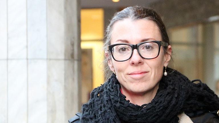 Sara Leckner,  forskare inom medieteknikutveckling vid Malmö högskola. Foto: Hans Zillén/Sveriges Radio.