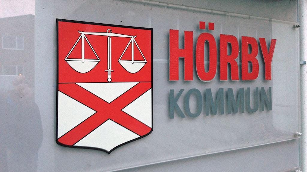 Hörby kommunskylt. Foto: Jonathan Hansen/SR