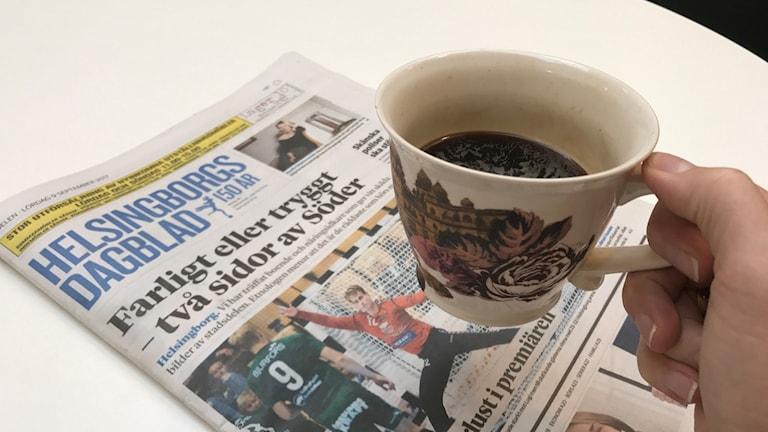Många kommer inte att få sin tidning i dag efter problem i tryckeriet. Foto: Karin Genrup/Sveriges Radio