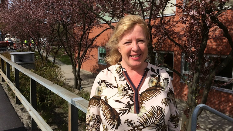 Professorn Anna Forsberg i närbild.