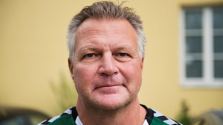 Ulf Sivertsson, tränare för OV Helsingborgs lag i herrarnas handbollsliga. Foto: Emil Langvad/TT.