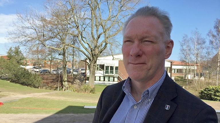 Christer Pålsson, kommunchef i Bjuv. Foto: Anna Hanspers/Sveriges Radio