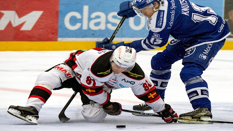 Malmön suomalaispelaaja Ilari Filppula under lördagens ishockeymatch i SHL mellan Leksands IF och Malmö Redhawks i Tegera Arena i Leksand.  Foto: