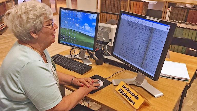 Berit Aronsson, släktforskare Foto: Cecilia Ekman/Sveriges Radio