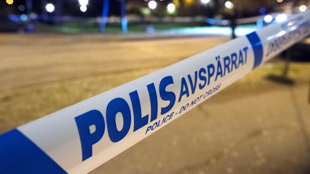 Polisens avspärrningsband.