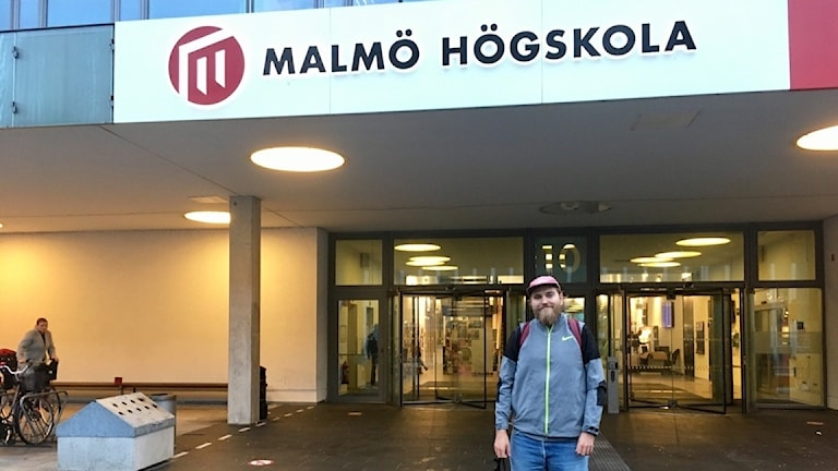Kristofer Nesling, lärarstudent, Malmö högskola. Foto: Rafaela Stålbalk Klose/Sveriges Radio