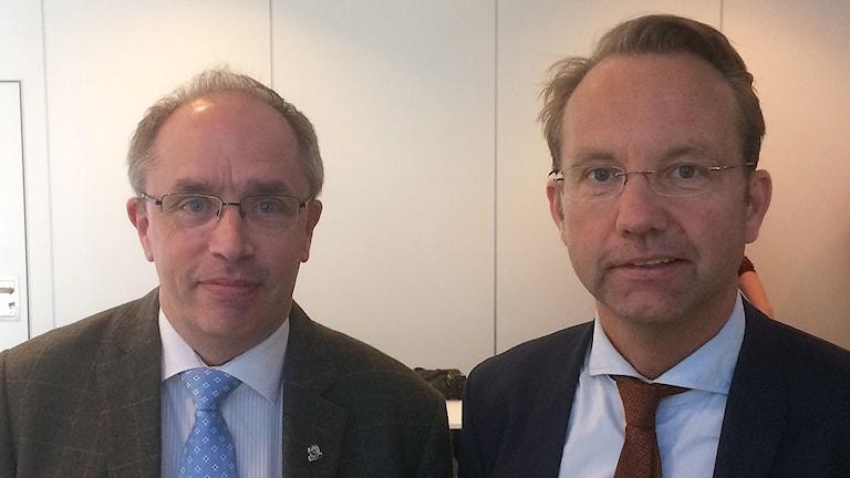 Alf Jönsson, regiondirektör och Björn Eriksson, chef på SUS