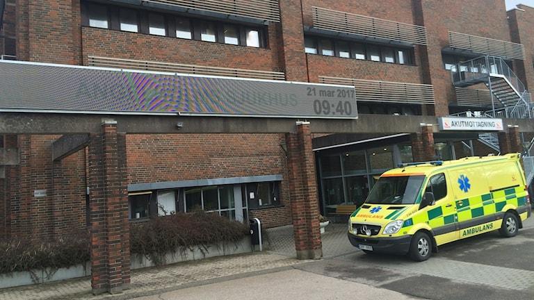 På sjukhuset i Ängelholm jobbar man för att inte få in patienterna i en sjukhussäng. Foto: Odd Clausen/Sveriges Radio.