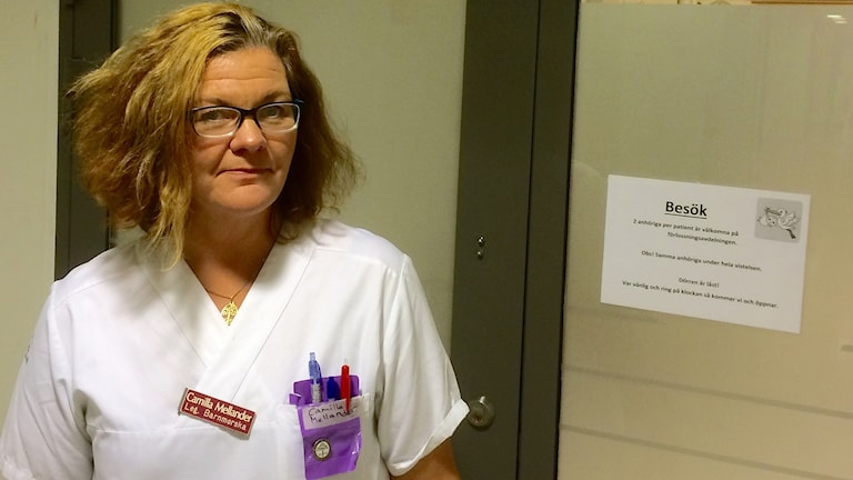 Camilla Mellander, barnmorska på Skånes universitetssjukhus i Malmö. Foto: Petra Haupt/Sveriges Radio