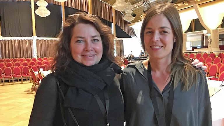 Jane Magnusson och Cecilia Nessen var på plats i Malmö för att pitcha sin filmidé inför en internationell jury. Foto: Martina Greiffe/Sveriges Radio.