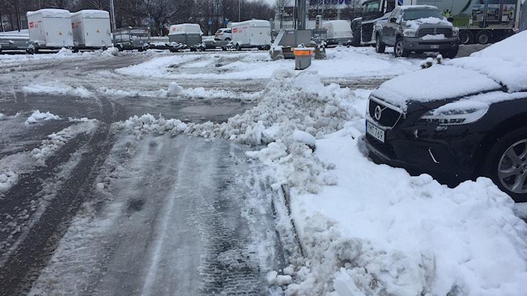 Snö i Helsingborg