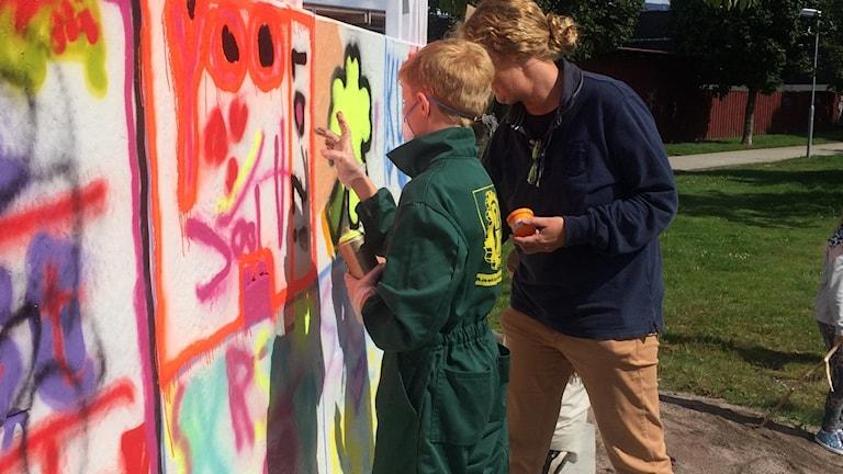 Graffitiväggar invigs i Ystad. Foto Susann Roos Ystads kommun