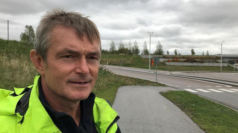 Peter Orban, yttre befäl vid Räddningstjänsten Syd. Foto: Petra Haupt/Sveriges Radio