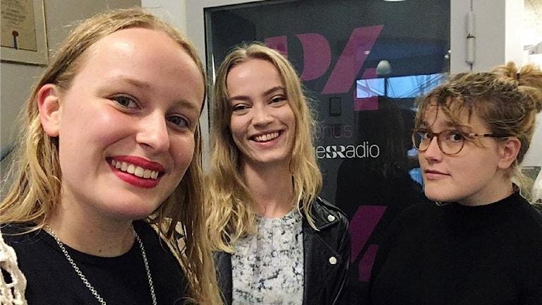 Naima Fridén, Sanna Warnemyr och Hanna Lövehed som startade föreningen Allra käraste syskon.