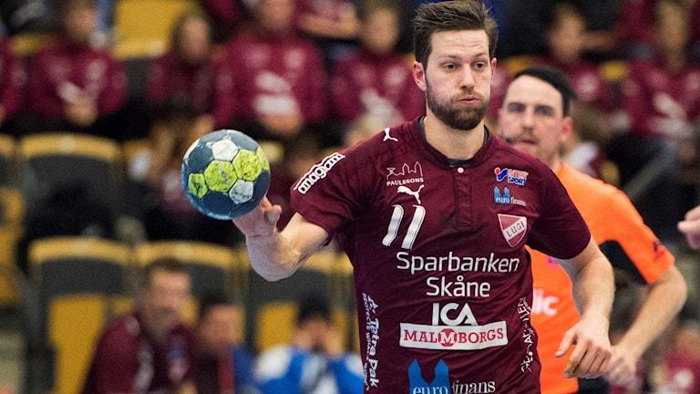 Anders Hallberg, handbollsspelare i Lugi. Foto: Emil Langvad/TT.