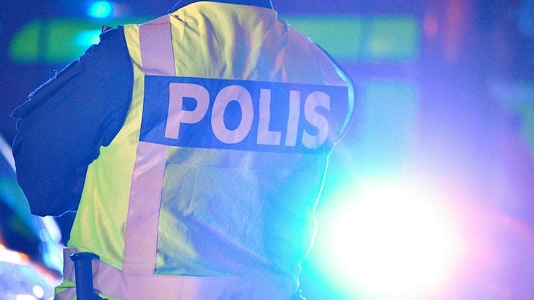 POLIS VID BRAND MALMÖ