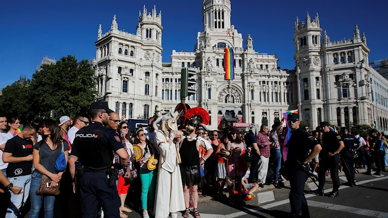 2017 års World Pride hölls i Madrid. Foto: Paul White/TT.