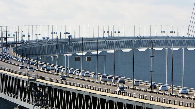 Bilar på Öresundsbron.