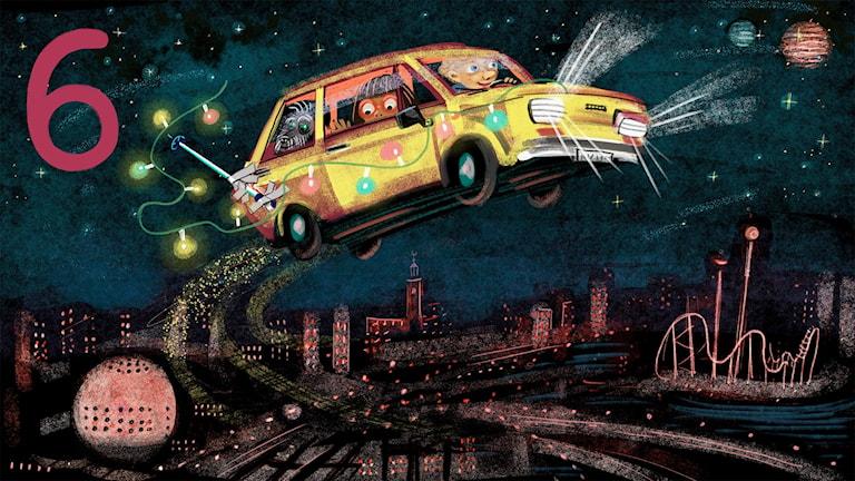 Biggest Bang, del 6: Fiaten flyger över Stockholm. Bild: Anna Sandler