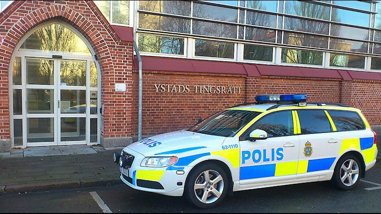 Ystad tingsrätt. Foto: Tobias Wallin/Sveriges Radio