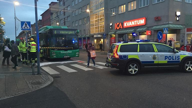 Två stadsbussar krockade i Helsingborg