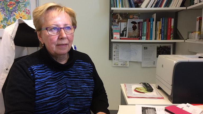 Helena Machalek, läkare på vårdcentralen Sundets läkargrupp i Bjärred. Foto: Petra Haupt/Sveriges Radio
