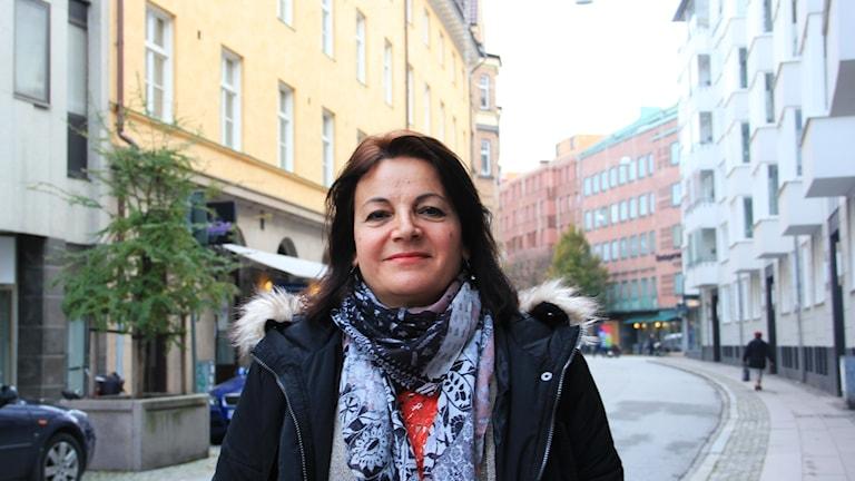Gaby Hosseini, ordförande i iranska kvinnoföreningen i Helsingborg.