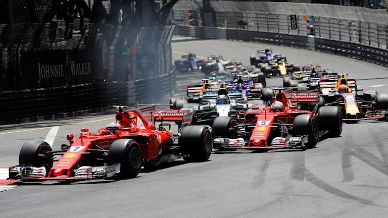 Formel 1, här på gatorna i Monaco. Foto: Frank Augstein/TT.