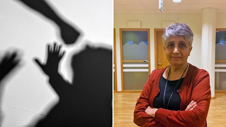 Soossan Zarghamian, socialsekreterare på Kriscentrum i Malmö.
