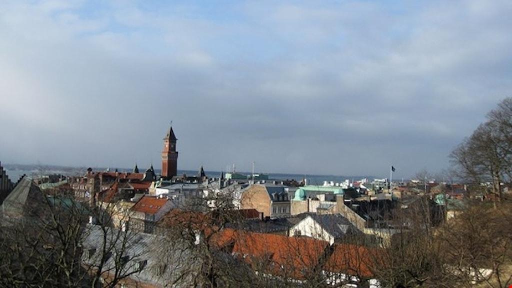 Vy över Helsingborg.