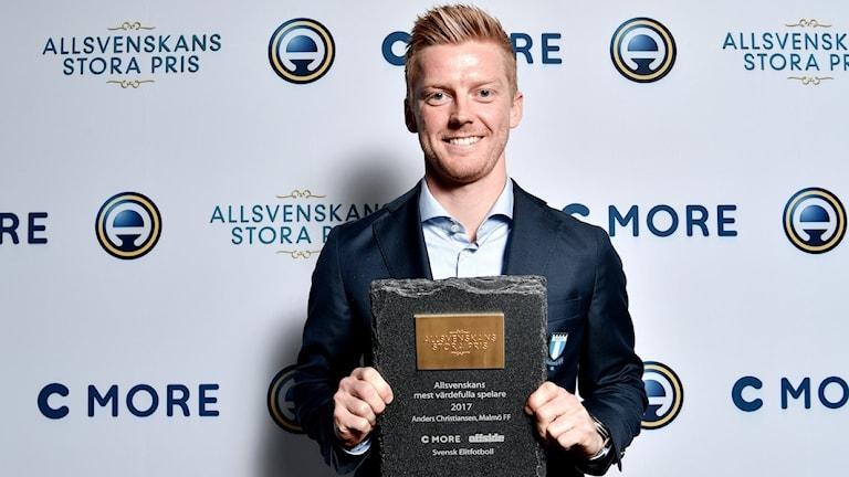 Malmö FF:s Anders Christiansen blev Allsvenskans Stora Pris stora vinnare när han kammade hem både Årets mittfältare och Årets mest värdefulla spelare.