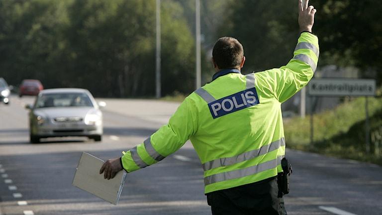 Trafikpolisen i Skåne vill ha utrustning för att kunna drogtesta förare. Foto: Anders Wiklund/SCANPIX