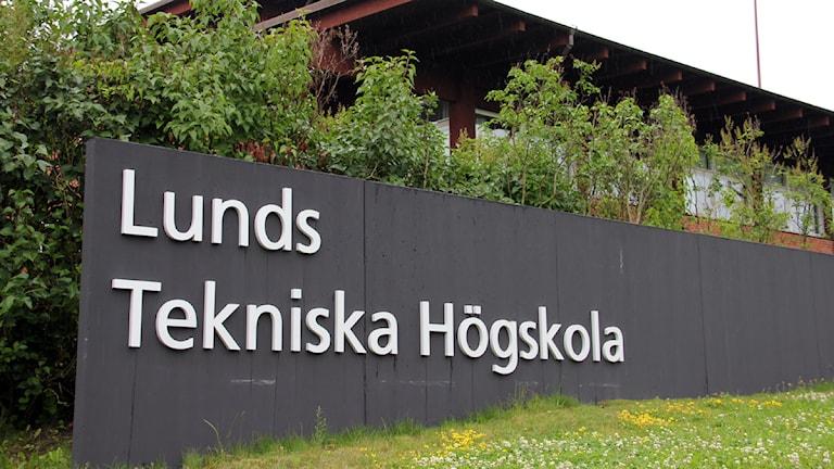 Skylten utanför Lunds tekniska högskola. Foto: Kristina Lindgärde/ Lunds universitet